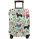 NiYoung Thick Water-Resistant Luggage Protector Elastic Baggage Suitcase Cover Washable with Zipper - Farm Animals Cow Sheep Goat Chick Travel Trolley Case Cover