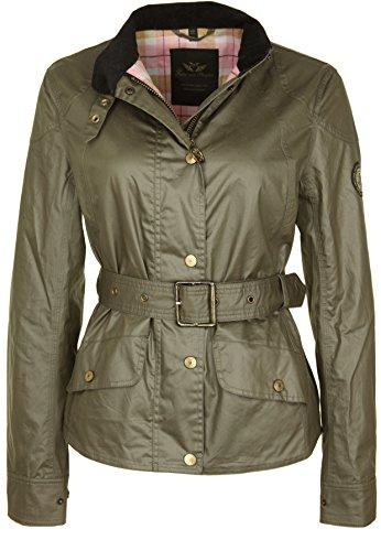 Fritzi aus Preussen Damen Mitchell Coated - Field Jacket Jacke, Beige (Khaki 66), Medium
