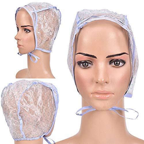 Extra große Satin Schlafmütze Hochwertige wasserdichte Duschhaube Schützen Sie Haare Frauen Haarbehandlung Hut 6 Farben-2pcs