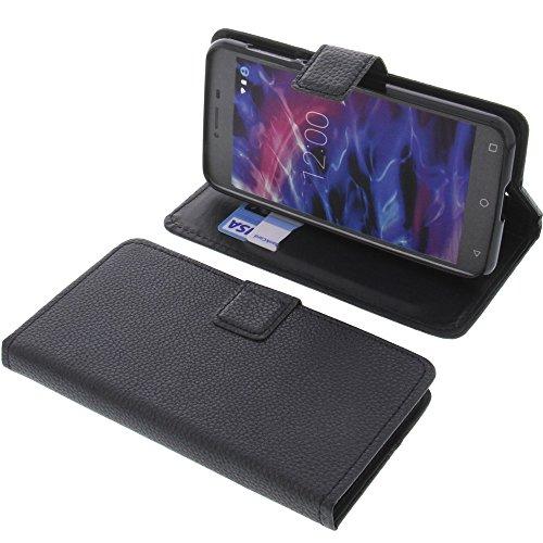 foto-kontor Tasche für MEDION Life E5008 Book Style schwarz Schutz Hülle Buch