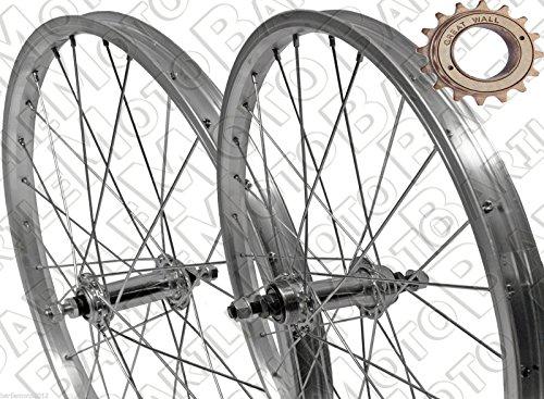 MALVESTITI Ruota/Cerchio Anteriore + Posteriore Bici GRAZIELLA 20' x 1.75 + PIGNONE Z18