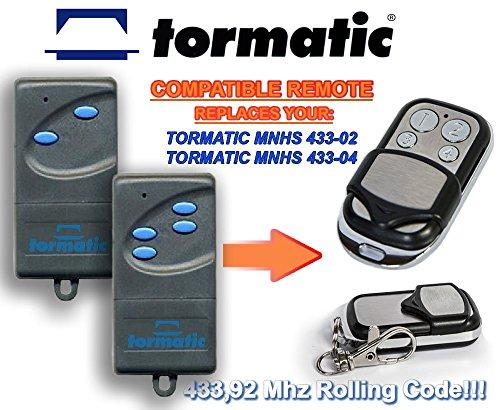 Tormatic MNHS433-02, MNHS433-04 universele vervangende afstandsbediening, 433,92 MHz rolling code Keyfob