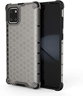 Case For Samsung Note 10 Lite Shockproof Frame TPU hard PC Clear Case Cover-Gray