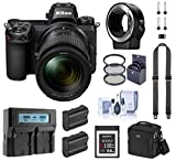 Nikon Z7 FX-Format Mirrorless Digital Camera with 24-70mm Lens, Complete Bundle with FTZ Mount Adapter, 64GB XQD Card, 2 Extra Battery and Accessories