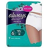 Always Discreet Inkontinenz Höschen Plus bei Blasenschwäche, Größe M, 1er Pack (1 x 9 Stück)