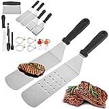 GerTong Kit de cocina para plancha, 14 herramientas de acero inoxidable con...