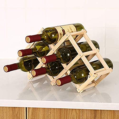 HWG Botellero Vino Vertical - Botellero De Pino Botellero Madera, Robusto Y Duradero, para Dormitorio/Restaurante/Cocina/Oficina/Bodega,C