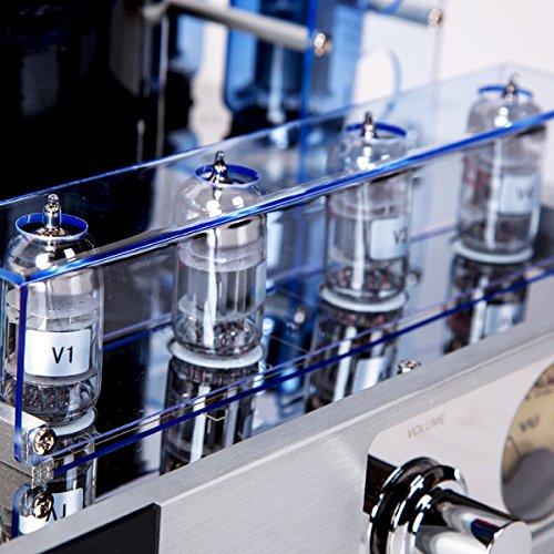 YAQIN MC-13S EL34 (6CA7) 4 Vacuum Tube Integrated Push-Pull Amplifier (Silver)