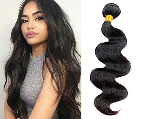 Greemeo Brésilien Ondulé Cheveux Humains Tissage Extensions Body Wave 100 Grammes 1 Bundle Pack (18 Pouces, Naturel color)
