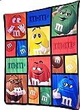 M & M's Characters Fleece Throw Blanket Great Winter Warmth Throw Blanket