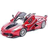 XUQIANG Ferrari Modelo de Coche FXX K-10 Modelo 1:18 aleación de simulación estática Modelo de Coche de Juguete colección Adornos