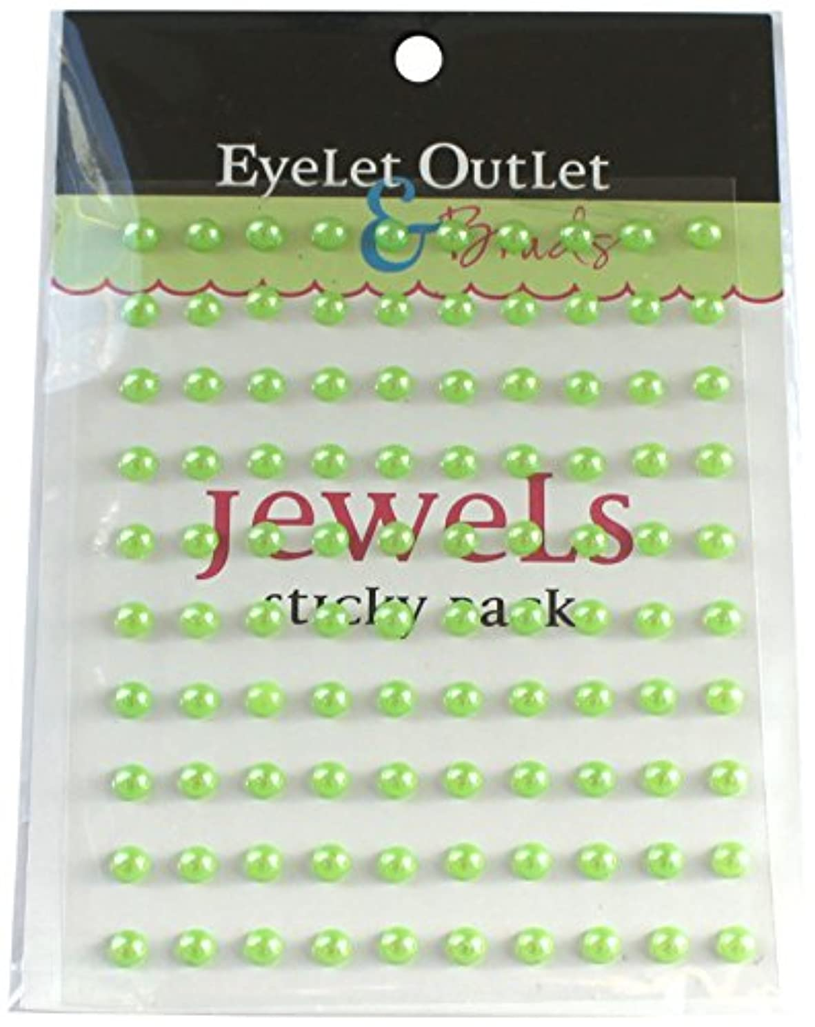 Eyelet Outlet Bling Self-Adhesive Pearls, 5mm, Green, 100-Pack