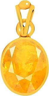 GEMS HUB Certified 5.00 Carat Yellow Sapphire Pukhraj Unisex Pendant-Astrological Gemstone