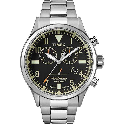 Timex Herren Analog Quarz Uhr mit Edelstahl Armband TW2R24900VQ