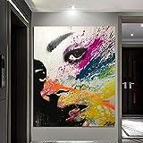 N / A Pintura sin Marco Decoración de la Sala de Estar Moderna Abstracta Pintura al óleo Dama decoración del hogar Imagen de Arte gráfico ZGQ8915 60x90cm