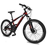 Adult Mountain Bike, 20/24/ 26 Inch Wheels Adult Bicycle, 7-21 Speeds Options, Bike for Mens Womens, MTB Bike with Double Disc Brake Suspension Fork, Multiple Colors