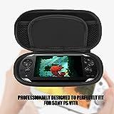 Bolsa de viaje Funda protectora Estuche de almacenamiento a prueba de golpes compatible con Sony PS Vita (rojo)