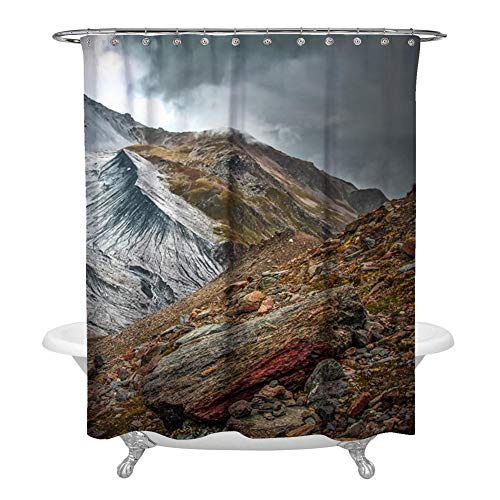 KIMOVE Fabric Shower Curtain Set with 12 Hooks Decorative Bathroom Accessories Home Decoration Waterproof Washable Curtains for Bathroom Showers, Stalls and Bathtubs, ortler-4145438