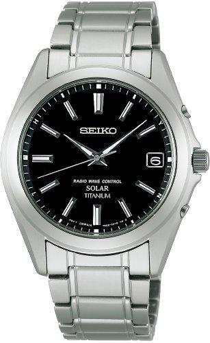 [セイコーウォッチ] 腕時計 スピリット ソーラー電波修正 サファイアガラス スーパークリア コーティング チタン SBTM217 シルバー
