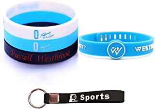 Basketball Silicone Wristband Bracelet -4 or 5PCS Assorted Color - One of The Five is Adjustable