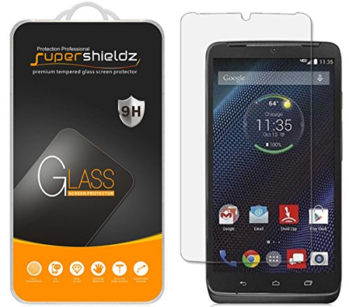 (2 Pack) Supershieldz Designed for Motorola Droid Turbo Tempered Glass Screen Protector, Anti Scratch, Bubble Free