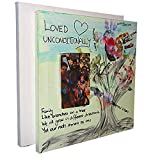 Stretched Blank Canvas for Fathers Day Gift. Kids Arts and Crafts Kits CR8 Outlet 2 x Canvas Picture Frame Craft Toddler, Keepsake Photo Frame kit. Baby Handprint and Footprint Painting kit.