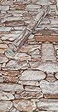 Visario Tapeten Folie 3000-S selbstklebend 10m x 45cm 5 Motive Steinoptik Steine Dekorfolie Möbelfolie Tapete