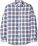 Amazon Essentials Herren-Flanellhemd, reguläre Passform, Langarm, kariert, Blue/White Plaid, US M (EU M)