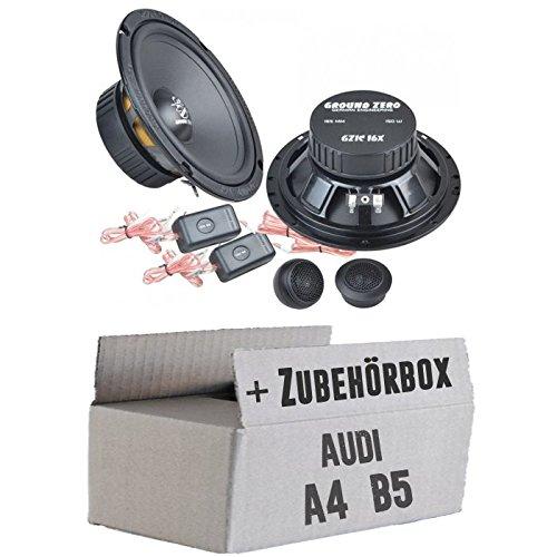 test Ground Zero GZIC 16X – 16 cm Soundsystem – Heck Audi A4 B5 Avant Installationskit – NUR… Deutschland