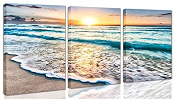 Wall-Art Home Decoration Sunset Beach Canvas Oil Painting Modern Decoration Living Room Bedroom Bathroom Oil Painting