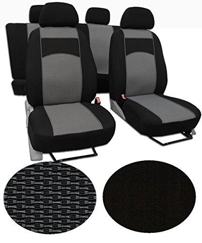 MaàŸgefertigter Autositzbezug Für T6 Transporter 5-Sitze, beste Qualität Sitzbezüge/Busbezüge im Design VIP-1 (erhältlich in 5 Farben und 9 Mustern).