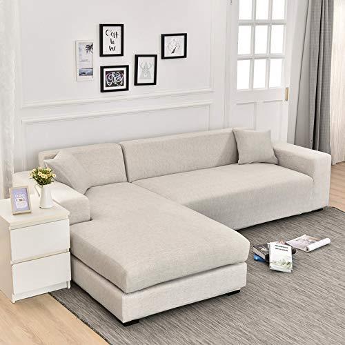 ASCV Geometrische Eck-Sofabezüge für Wohnzimmer Elastische Schonbezüge Couchbezug Stretch-Sofa Handtuch L-Form Need Buy 2Pieces A17 3-Sitzer