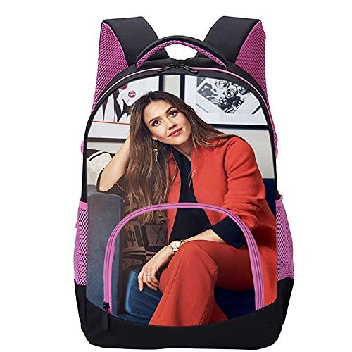 KKASD Jessica Alba Mochila impresa en 3D Mochila escolar informal, adecuada para mochila de moda para estudiantes 45x30x15cm Mochila escolar para niños