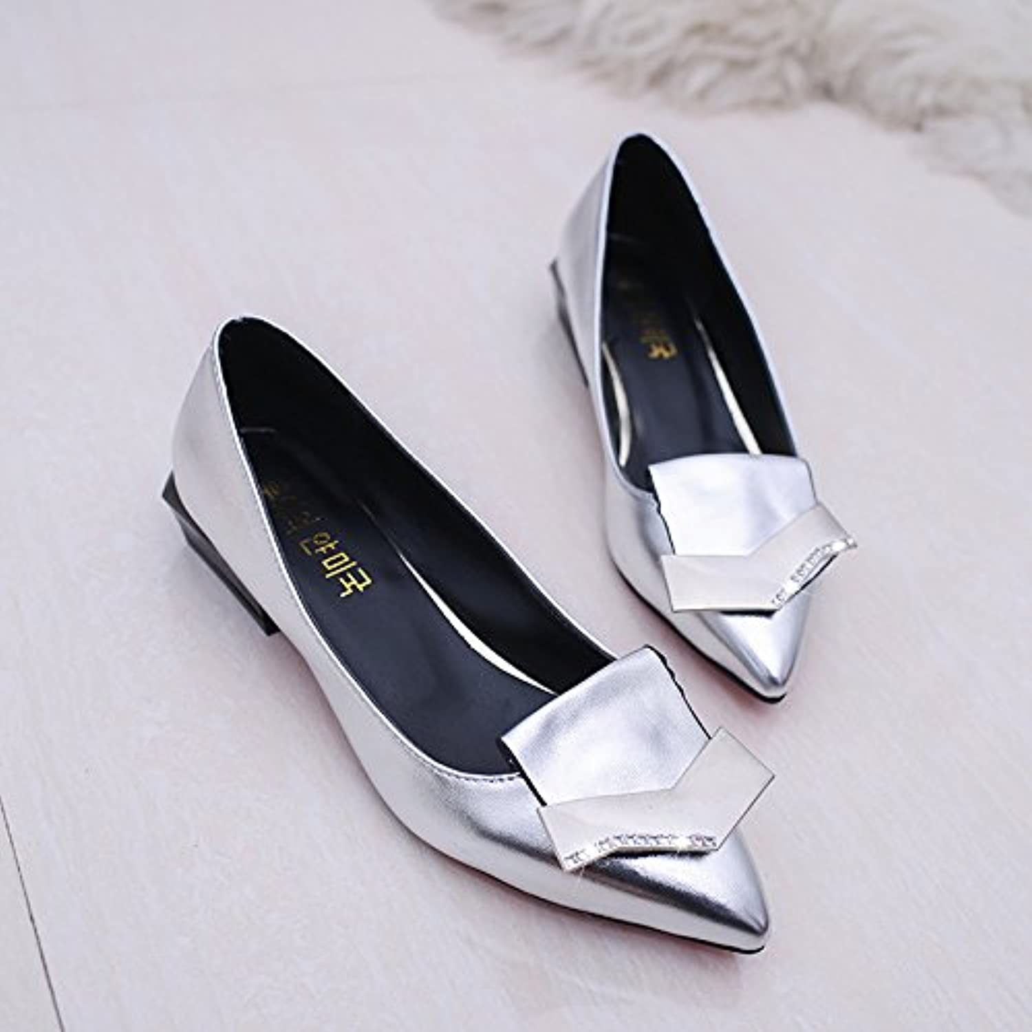 WYMBS Autumn and Winter GiftsWomen's shoes Pointed Shallow Mouth Square with shoes
