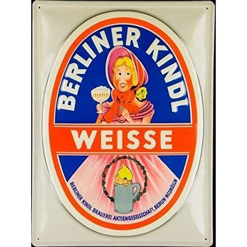 Froy Berliner Kindl Weisse White Mur Tôle Signe rétro Fer Affiche Peinture Plaque Tôle Vintage Art Personnalisé Créativité Décoration Artisanat pour Café Bar Garage Maison