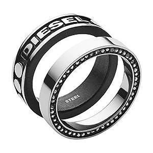 Diesel Herren-Stapelring Edelstahl Glas '- Ringgröße 61 DX1170040-10