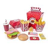 iBaste Juguete de cocina para niños, juguetes de alimentos, juego de hamburguesas, juguete para niños, duradero, juego de cocina pedagógico, regalo para niños y niñas