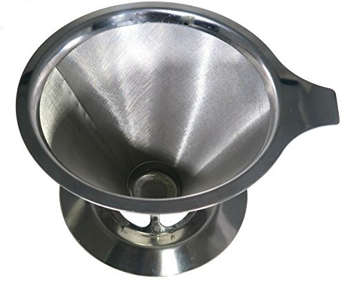 Barista Quality Pour Over Coffee Maker - Premium Stainless Steel Coffee Cone Filter - Hipster Approved