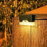 Lixada Lámpara de Pared Solar al Aire Libre IP65 a Prueba de Agua LED Iluminado luz Patio jardín lámpara de iluminación de Escalera