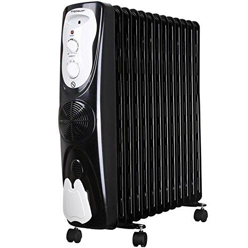 Aigostar Protector 33JHG - Radiatore ad olio portatile, 13 elementi, 2800Watt, calore sicuro con sistema di aria calda e termostato. Design esclusivo.