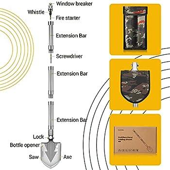 Pelle Pliante Militaire Pelle de Camping Mini-Portable pour Le Camping, Jardinage, Randonnée, Survie en Plein air, Chasse, Expédition, pêche