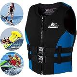AURALLL Unisex Life Vest Snorkel Vest Kayak Canoeing Jacket Ideal Buoyancy Aid for 48-110Kg Adult Women Men Sea Fishing, Snorkeling, Fishing, Motor Boating, Water Sports,M