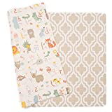 Baby Care Play Mat - Haute Collection (Medium, Moroccan - Beige) - Play Mat for Infants – Non-Toxic Baby Rug – Cushioned Baby Mat Waterproof Playmat – Reversible Double-Sided Kindergarten Mat