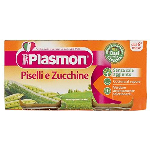 Plasmon Omogeneizzato Verdure Piselli e Zucchine - 160 gr