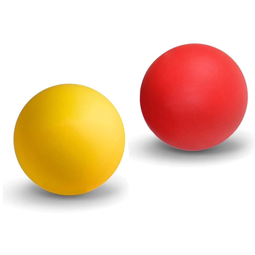 聴覚縮れた注ぎますマッサージボール ストレッチボール トリガーポイント ラクロスボール 筋膜リリース トレーニング 指圧ボールマッスルマッサージボール 背中 肩こり 腰 ふくらはぎ 足裏 ツボ押しグッズ 2で1組み合わせ 2個 セット