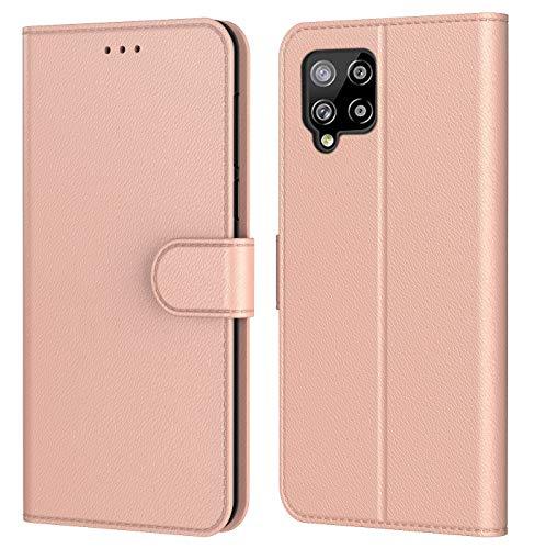 HL Coque pour Samsung Galaxy A42 5G, Pochette Protection Etui Housse Premium en Cuir PU,Fermeture Magnétique,Plusieurs Couleurs Disponibles pour (Samsung A42 5G, Book Rose)
