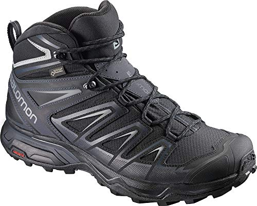 Salomon Men's X Ultra 3 Mid GTX Hiking Boot, Black, 11 M US