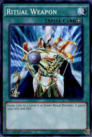YU-GI-OH! - Ritual Weapon (THSF-EN050) - The Secret Forces - 1st Edition - Super Rare