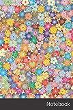 Notebook: Floral, Flores, Extracto, Arte Cuaderno / Diario / Libro de escritura / Notas - 6 x 9 pulgadas (15.24 x 22.86 cm), 150 páginas, superficie brillante.
