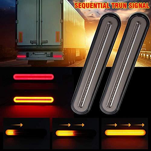 MOGOI LED Truck Trailer Rücklicht, 3 In 1 Sequentielles Fließendes Rücklicht Anhänger Rücklicht Stop-Turn-Bremslicht Für LKW-Bootsanhänger (1 Paar)